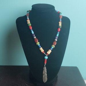 Carolyn Pollack Relios feather necklace